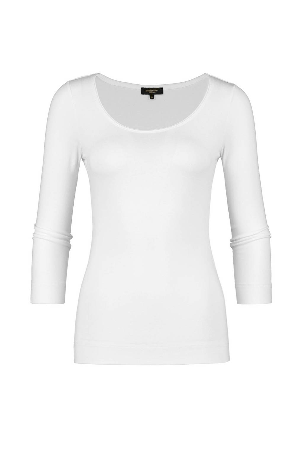 Claudia Sträter basic T-shirt wit, Wit