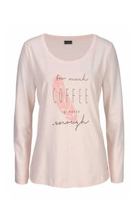 Lascana pyjamatop met printopdruk roze, Roze