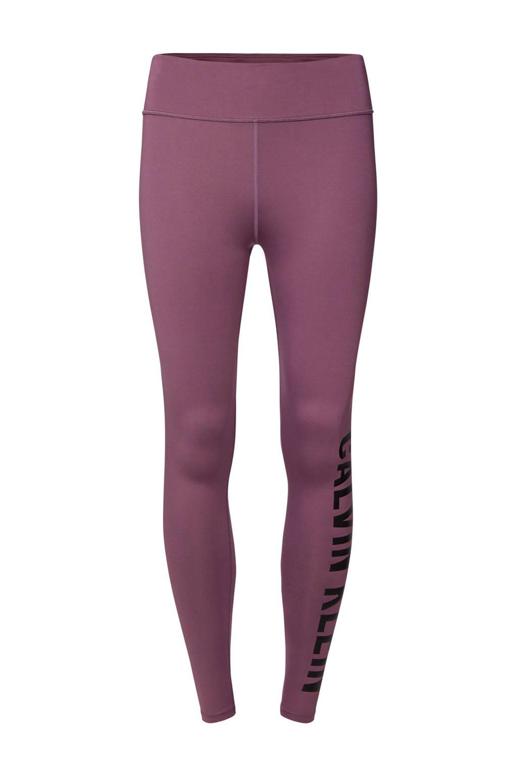 CALVIN KLEIN PERFORMANCE sportbroek paars/zwart, Paars/zwart