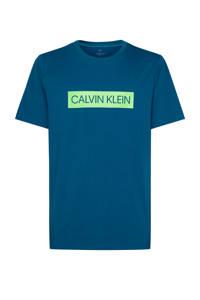 CALVIN KLEIN PERFORMANCE   sport T-shirt petrol/limegroen, Petrol/limegroen