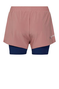 Tommy Hilfiger Sport 2-in-1 short oudroze/donkerblauw, Oudroze/donkerblauw