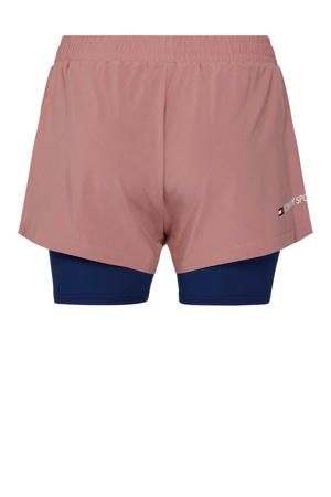 2-in-1 short oudroze/donkerblauw