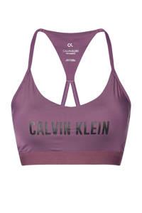 CALVIN KLEIN PERFORMANCE level 1 sportbh paars/zwart, Paars/zwart