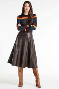 Scotch & Soda gestreepte fijngebreide trui zwart/ blauw