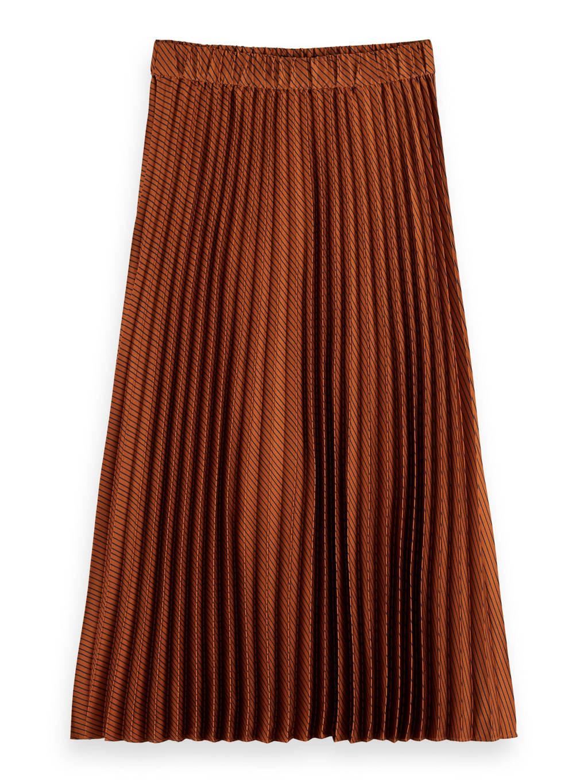 Scotch & Soda plissé rok roodbruin, Roodbruin
