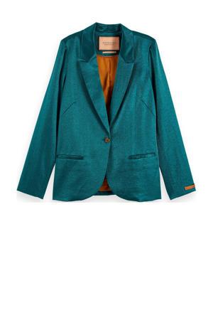 blazer met glitters turquoise