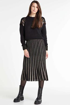 gebreide trui met pailletten zwart