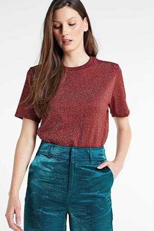 gemêleerd T-shirt rood