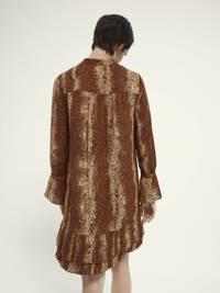 Scotch & Soda jurk met slangenprint bruin, Bruin