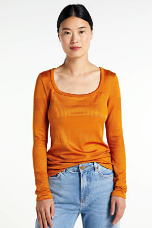 gestreepte trui oranje