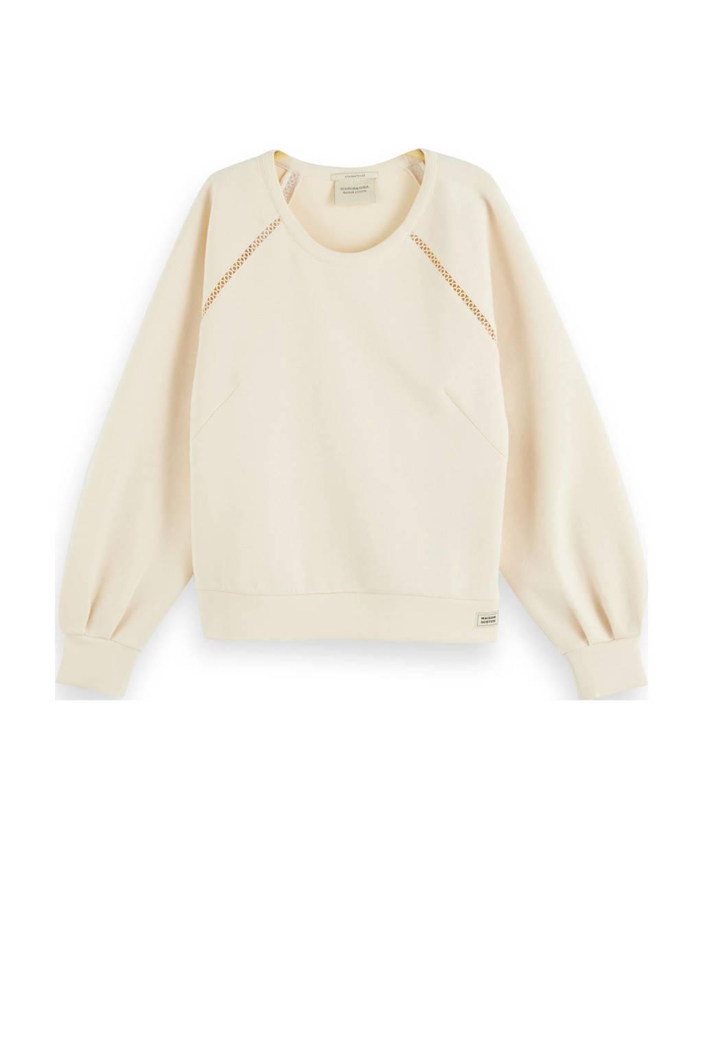 Scotch & Soda sweater met open detail gebroken wit, Gebroken wit