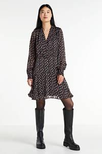 Scotch & Soda jurk met all over print zwart/multi, Zwart/multi
