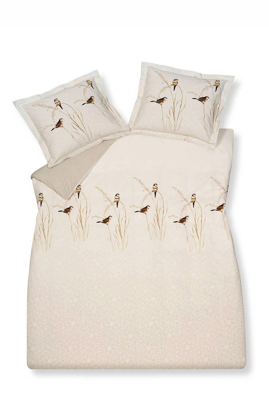 Vandyck katoenen dekbedovertrek lits-jumeaux, Naturel, Lits-jumeaux (240 cm breed)