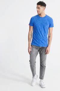 Superdry Superdry gemêleerd T-shirt van biologisch katoen blauw, Kobaltblauw