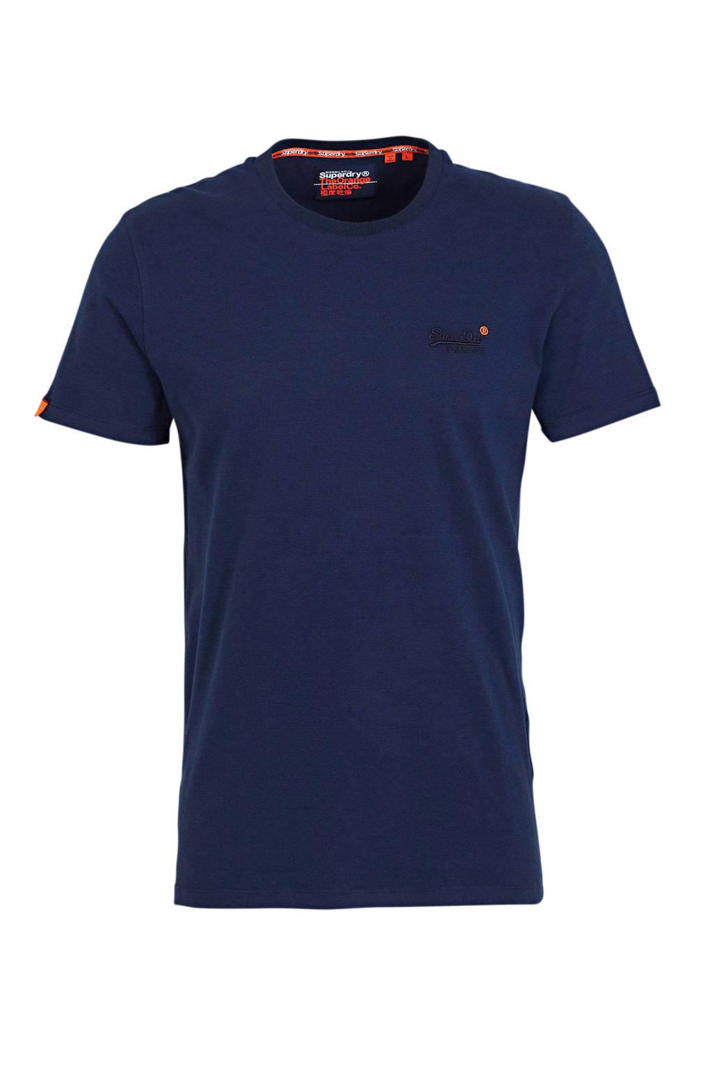 Superdry T-shirt donkerblauw, Donkerblauw