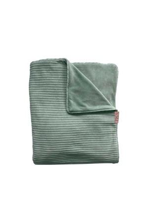 Tuck-Inn baby wiegdeken rib velours groen