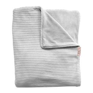 Tuck-Inn baby ledikantdeken rib velours grijs
