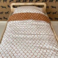 Witlof for kids Tuck-Inn ledikant dekbedovertrek bruin/off white, Baby (100 cm breed)
