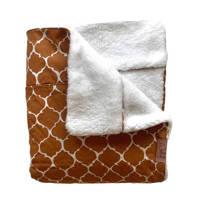 Witlof for kids Tuck-Inn baby wiegdeken bruin/off white, Bruin/off white