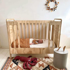 Tuck-Inn baby ledikantdeken bruin/wit
