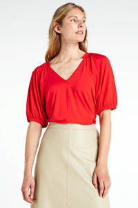 Inwear top met ruches rood, Rood