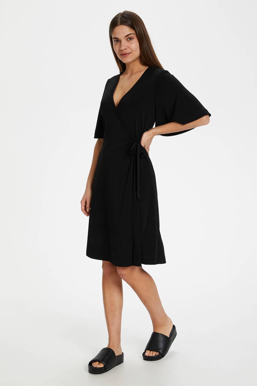 Inwear jurk met volant zwart, Zwart