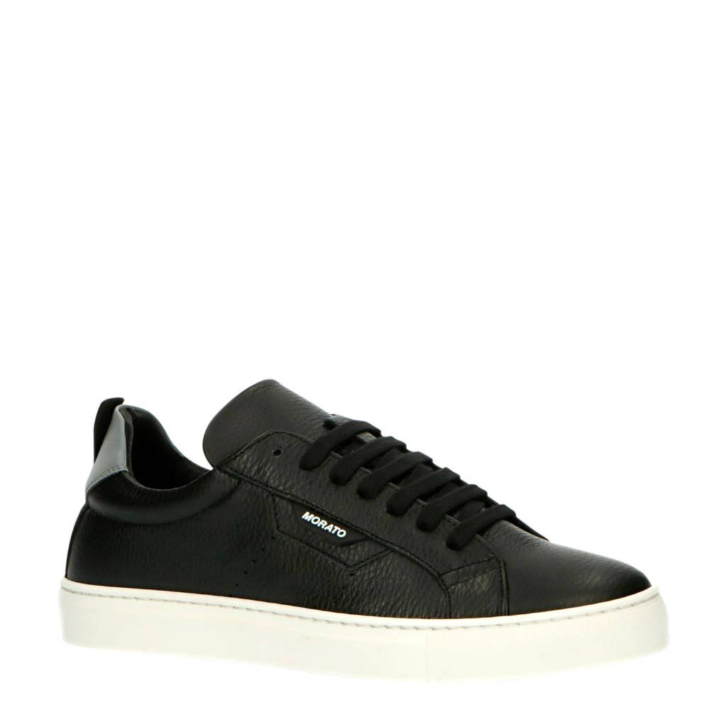 Antony Morato MMFW01335-LE300002  leren sneakers zwart, Zwart