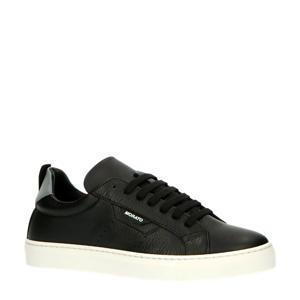 MMFW01335-LE300002  leren sneakers zwart