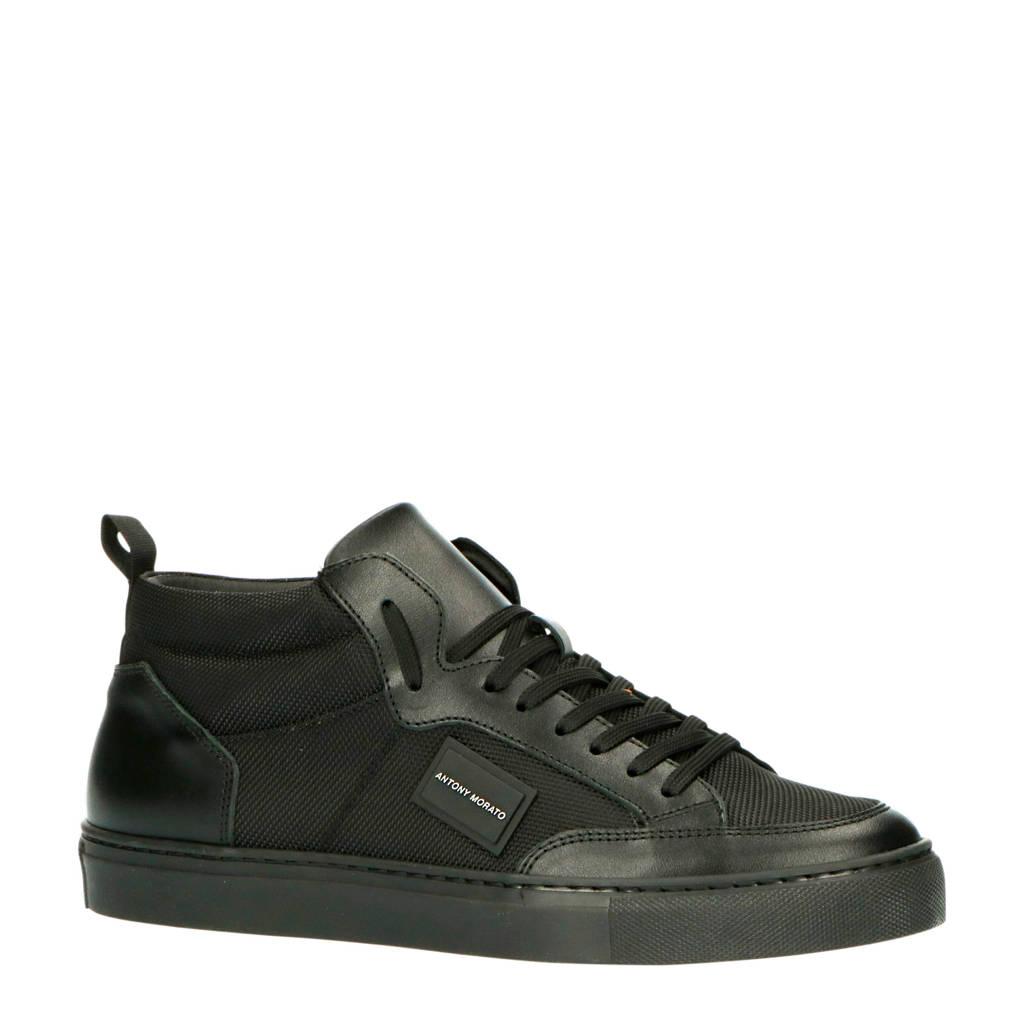 Antony Morato MMFW01309-LE500019  hoge sneakers zwart, Zwart