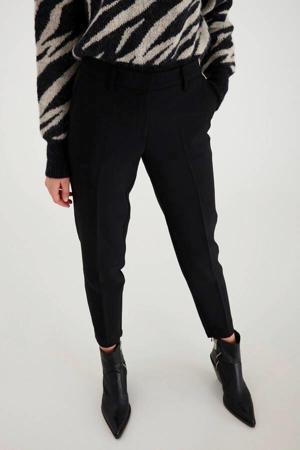 high waist slim fit pantalon Lexi zwart
