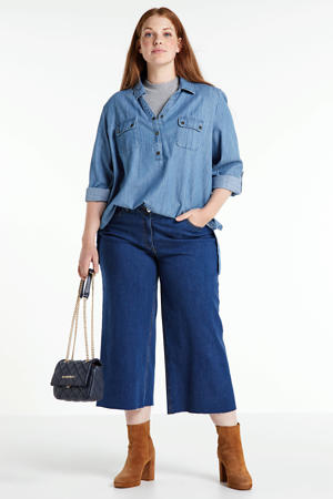 cropped loose fit jeans dark denim