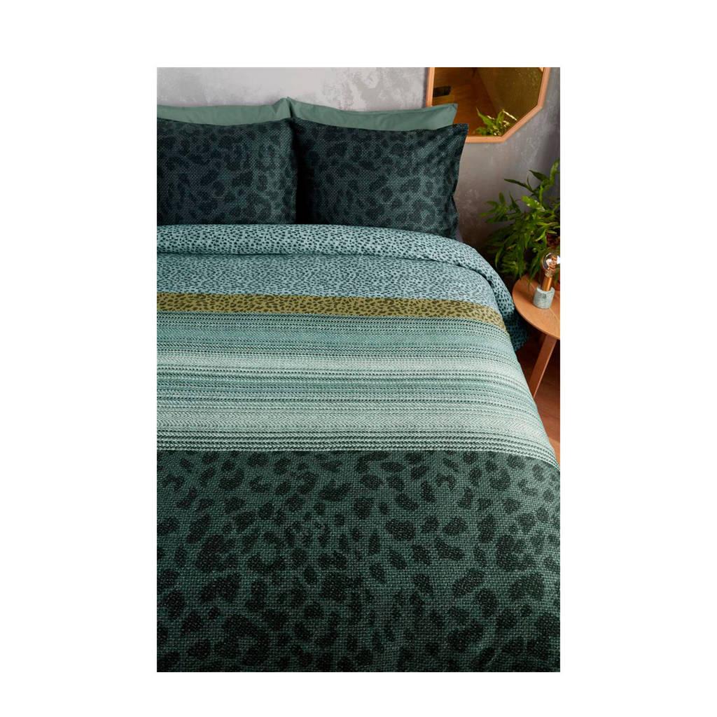 Beddinghouse katoensatijnen dekbedovertrek lits-jumeaux, Groen, Lits-jumeaux (240 cm breed)