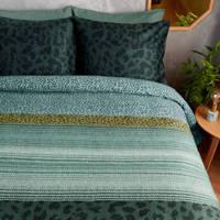 Beddinghouse katoensatijnen dekbedovertrek 2 persoons, Groen, 2 persoons (200 cm breed)