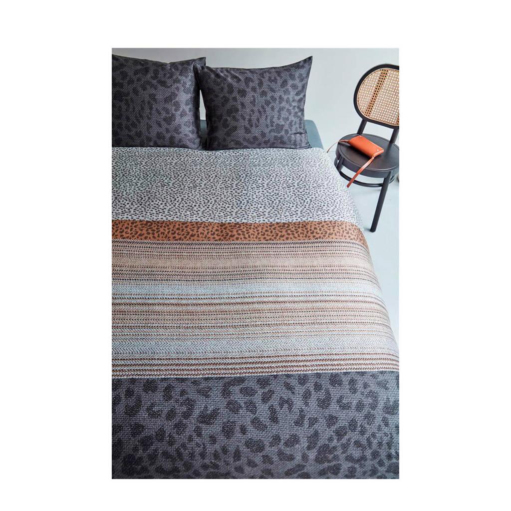 Beddinghouse katoensatijnen dekbedovertrek lits-jumeaux, Antraciet, Lits-jumeaux (240 cm breed)