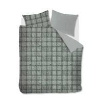 Riviera Maison flanellen dekbedovertrek lits-jumeaux, Groen, Lits-jumeaux (240 cm breed)