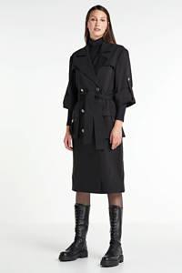 NIKKIE Selected By Kate Moss coat Lizzy zwart, Zwart