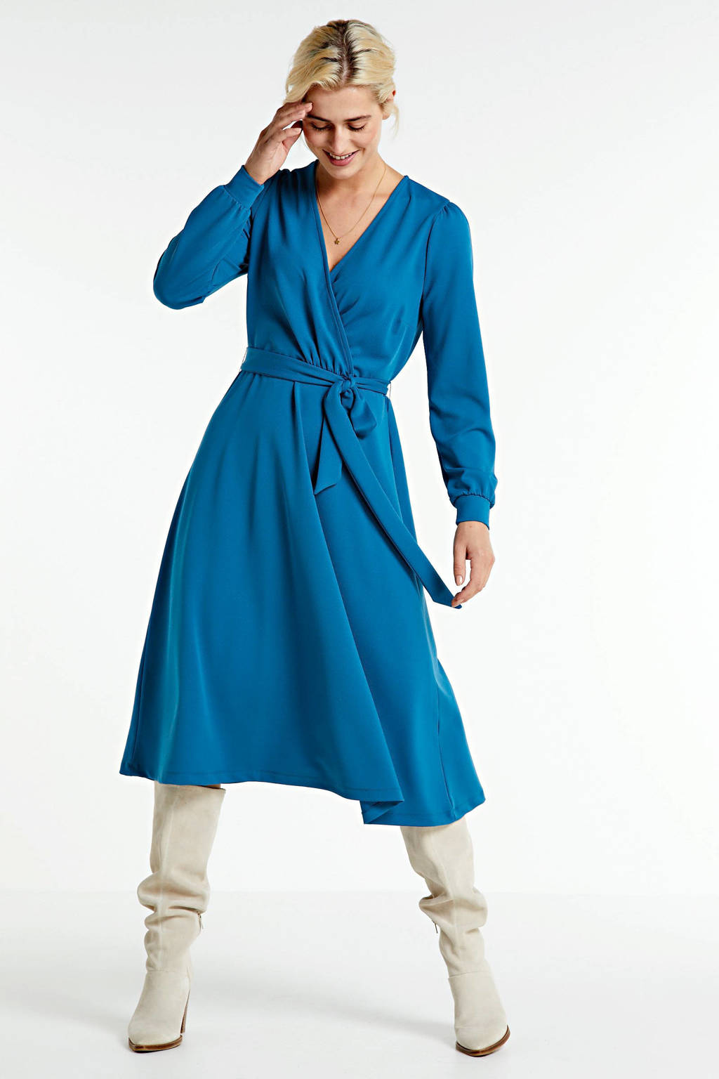anytime A-lijn jurk petrol, Petrol