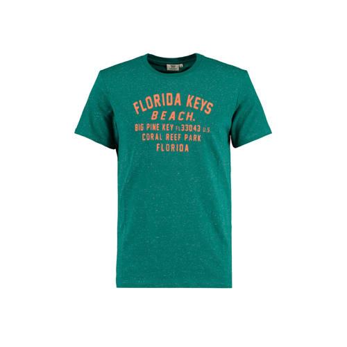 America Today T-shirt Erwin met tekst groen