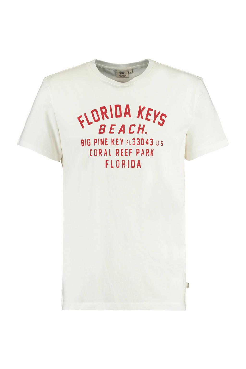 America Today T-shirt Erwin van biologisch katoen ecru, Ecru