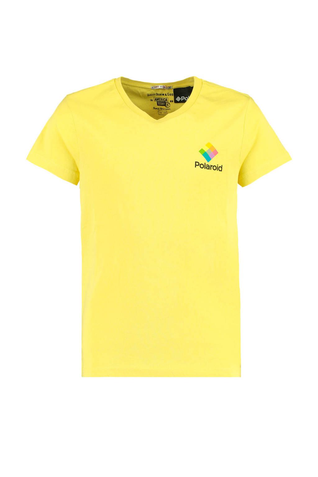 America Today Junior T-shirt Edwin met printopdruk geel, Geel