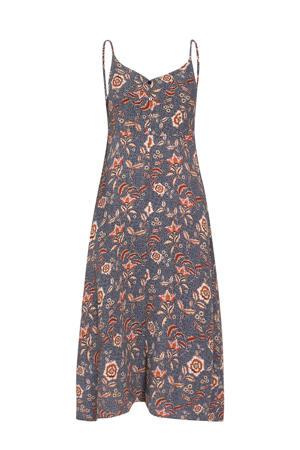 A-lijn jurk met all over print marine/rood/roze