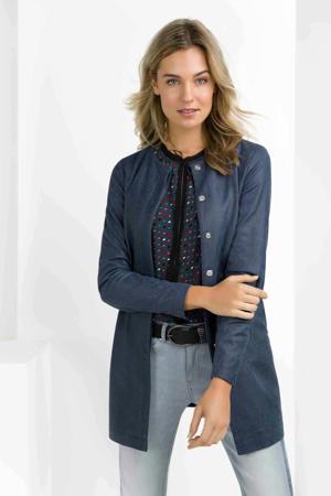blouse met all over print blauw/multi