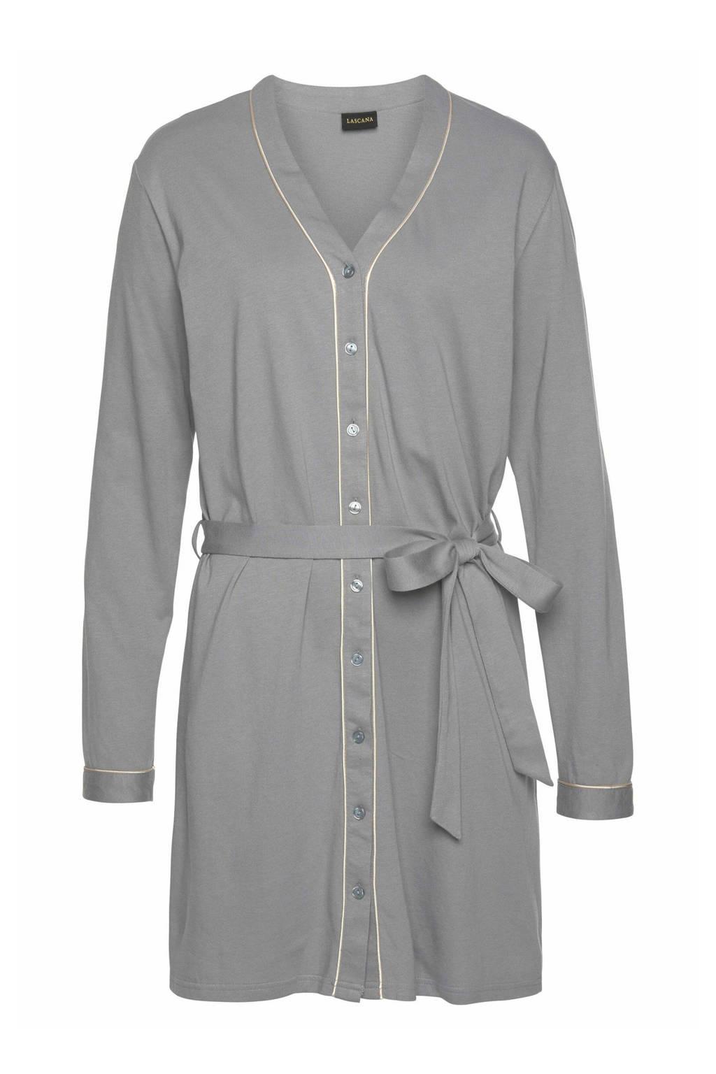 Lascana nachthemd grijs, Grijs