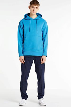 geruite regular fit pantalon marine