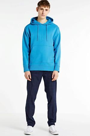 Mott geruite regular fit pantalon marine