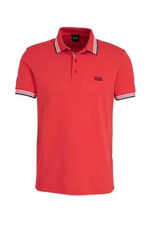 slim fit polo rood