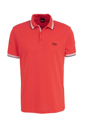 slim fit polo koraalrood