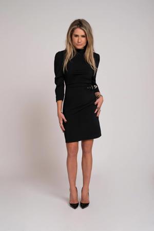 jurk Suzy Drape Sleeve zwart