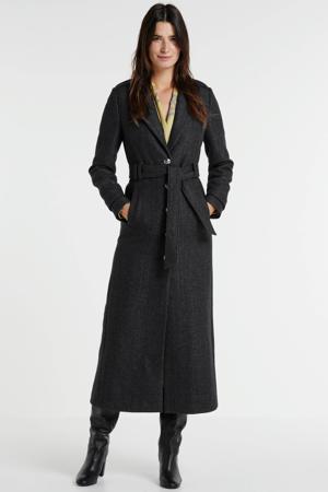 coat Amily met wol grijs