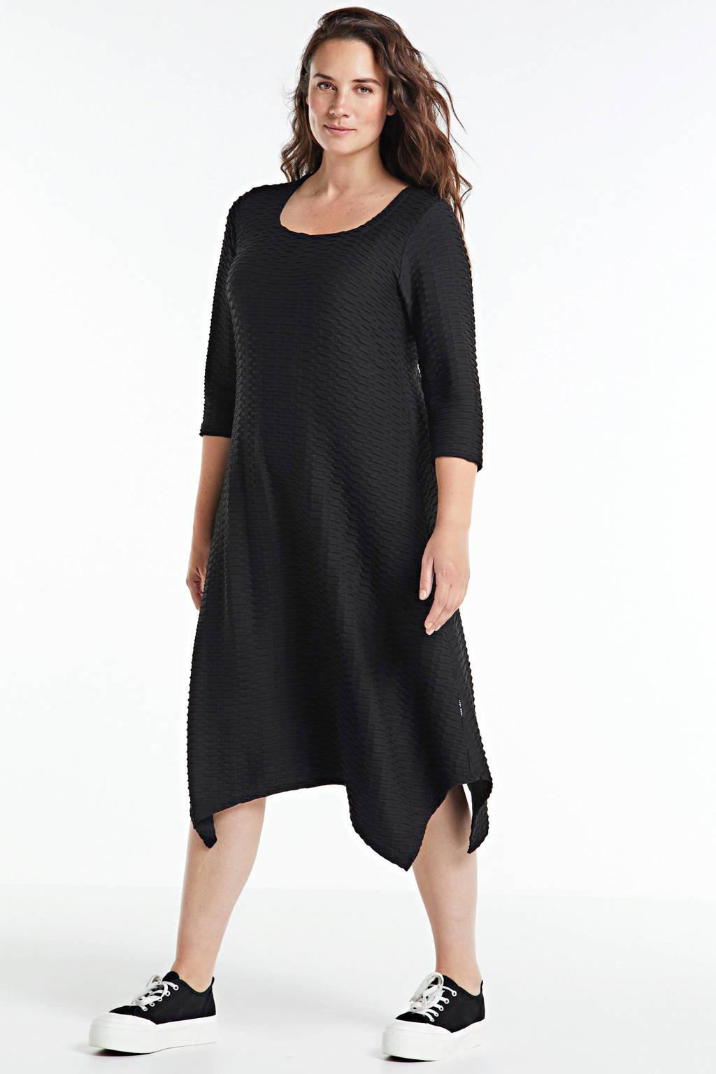 PONT NEUF gebreide jurk Sille zwart, Zwart
